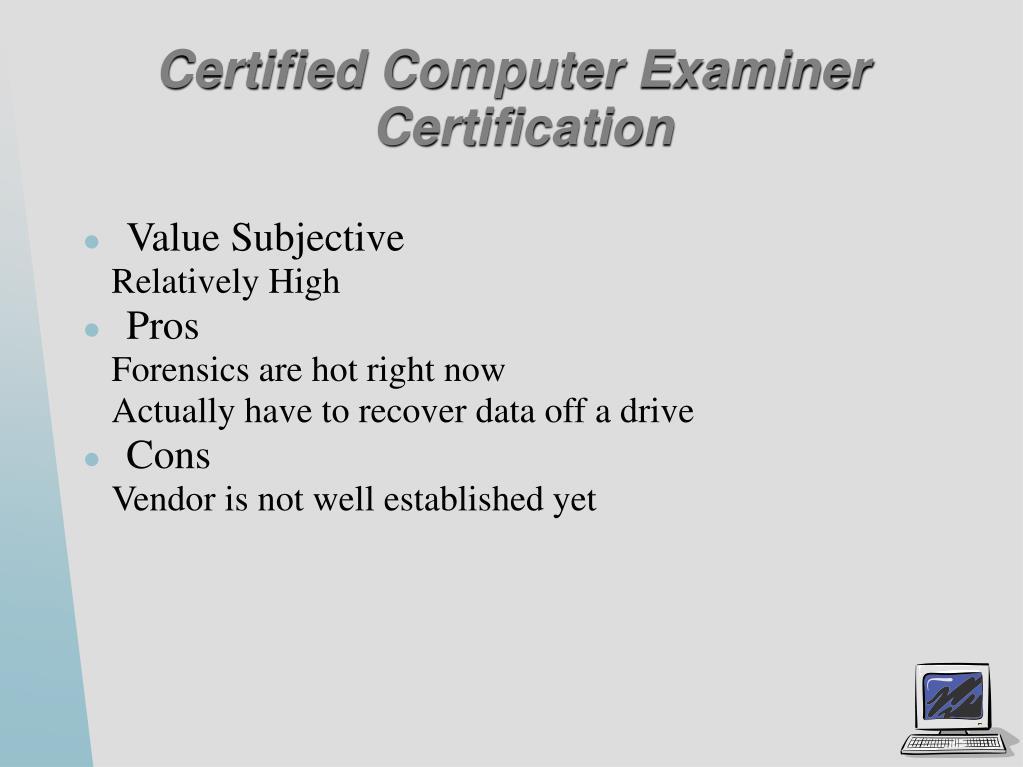 Certified Computer Examiner Certification