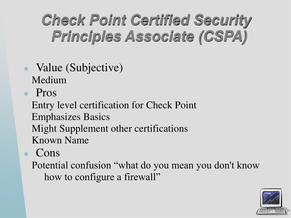 Check Point Certified Security Principles Associate (CSPA)