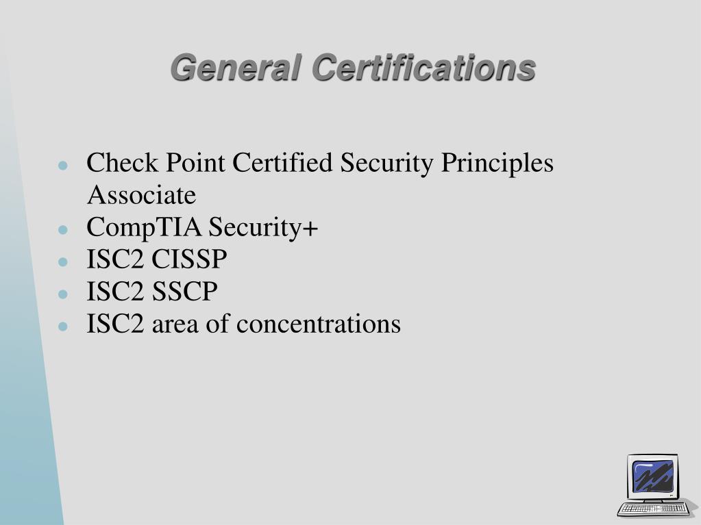General Certifications
