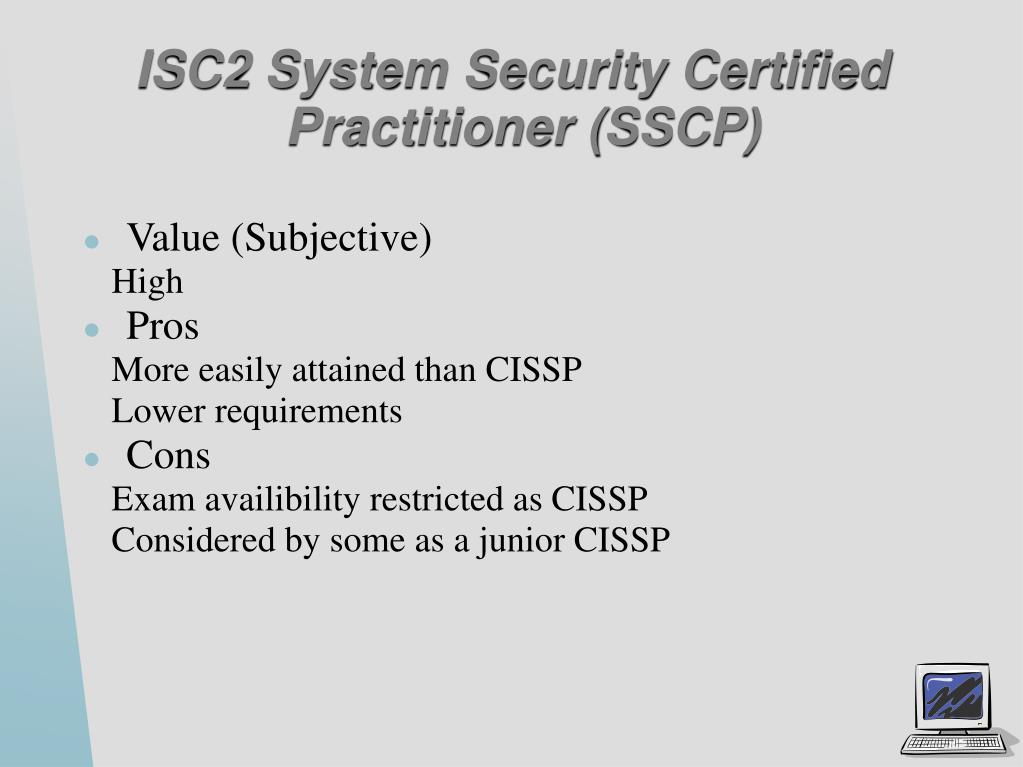ISC2 System Security Certified Practitioner (SSCP)