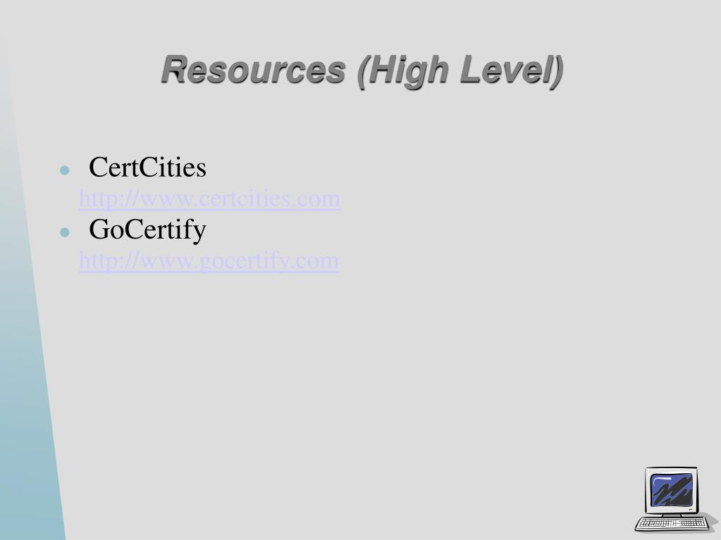 Resources (High Level)