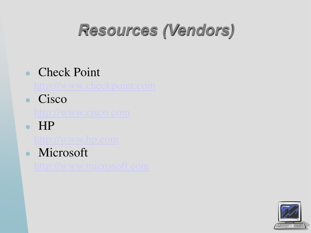 Resources (Vendors)