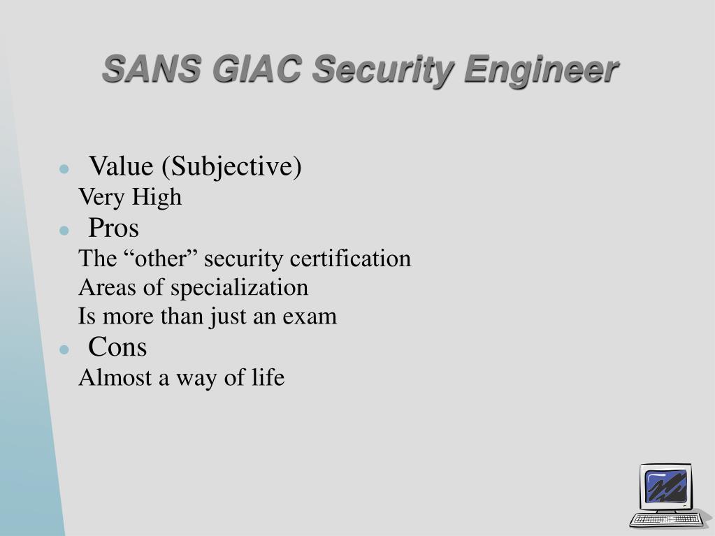 SANS GIAC Security Engineer