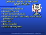 current areas of program development