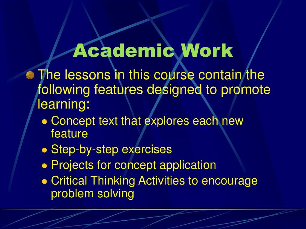 Academic Work