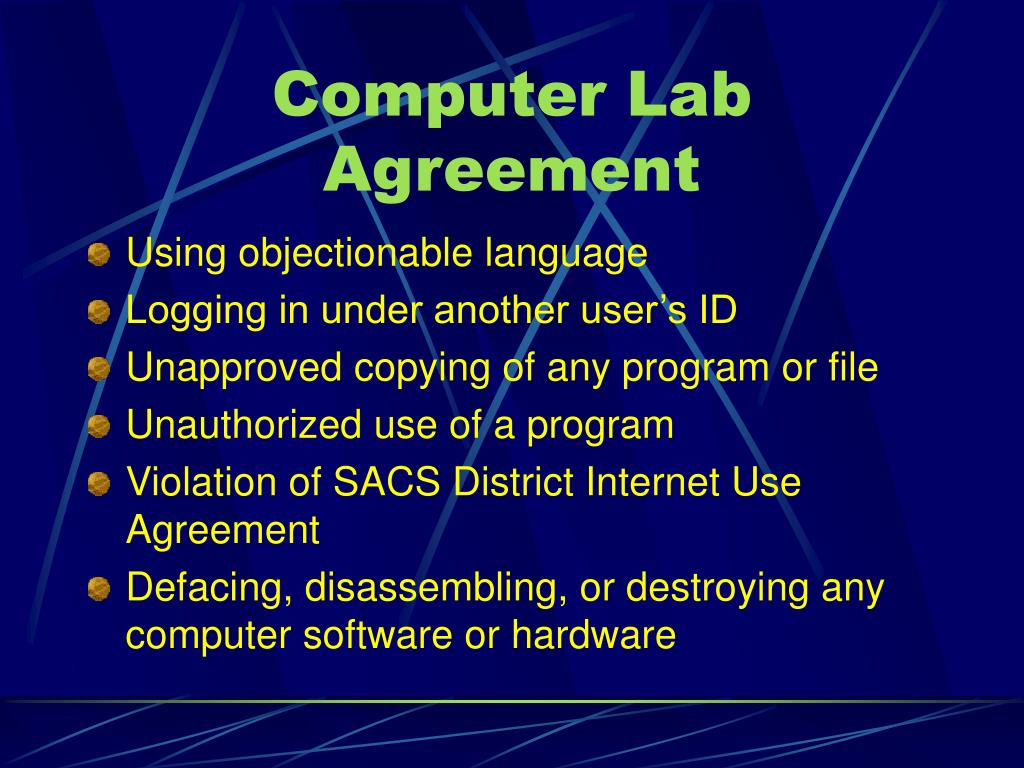 Computer Lab Agreement