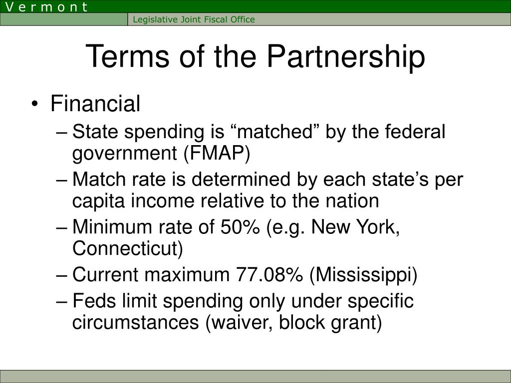 Terms of the Partnership