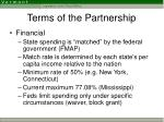 terms of the partnership5