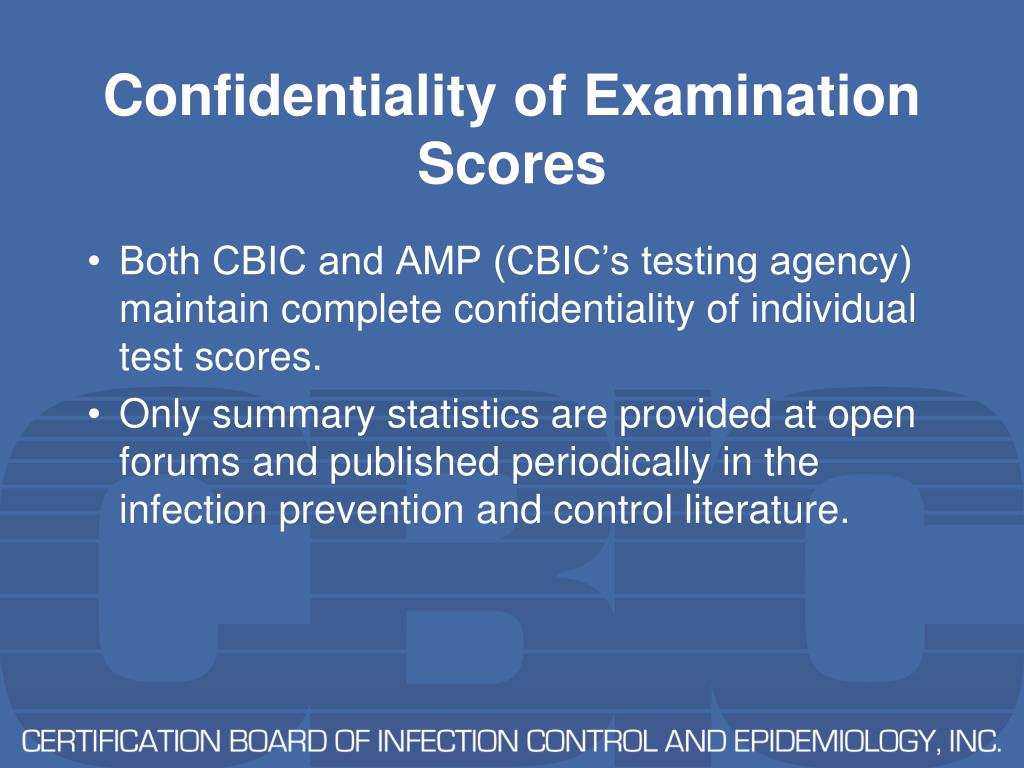 Confidentiality of Examination Scores