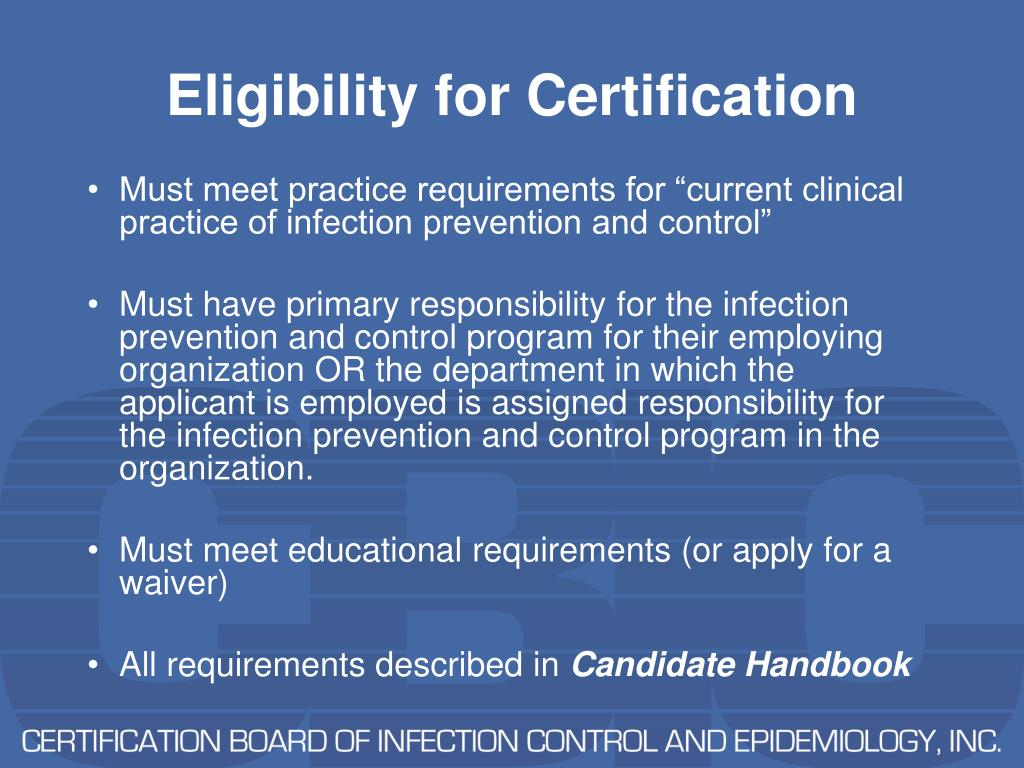 Eligibility for Certification