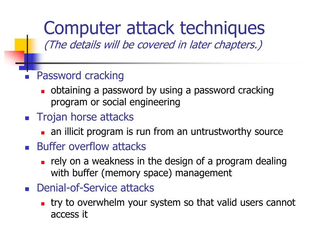 Computer attack techniques