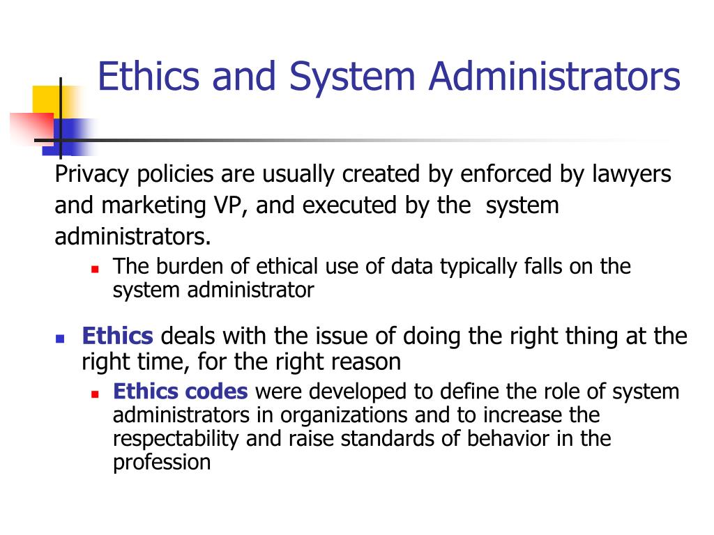 Ethics and System Administrators