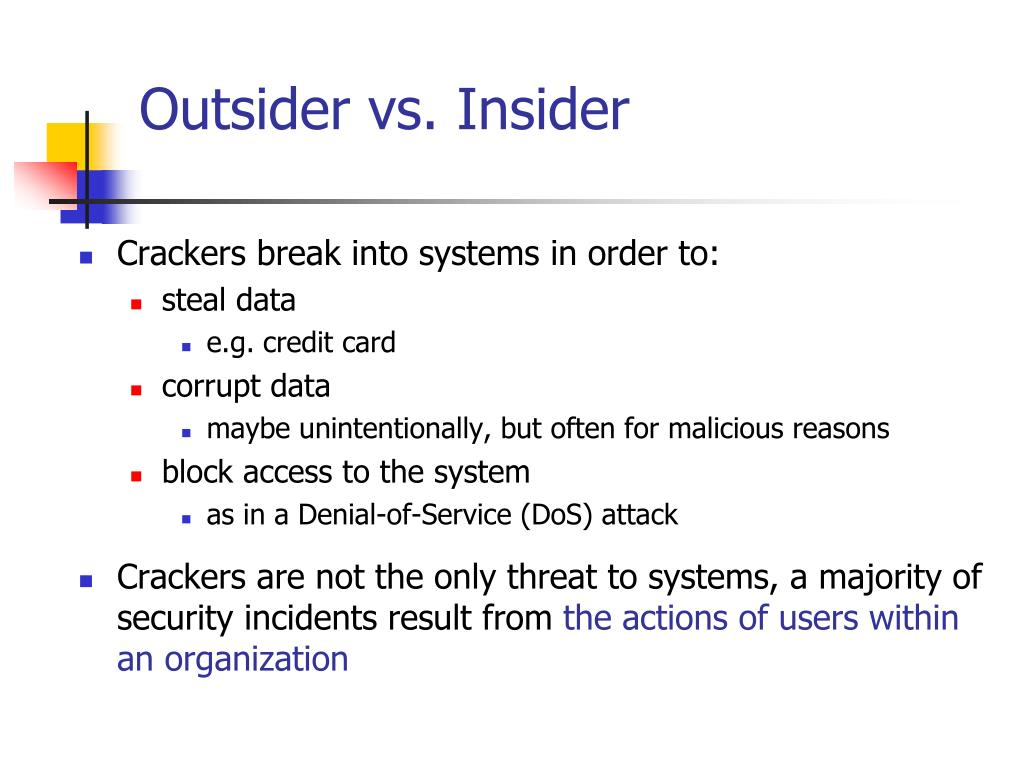 Outsider vs. Insider