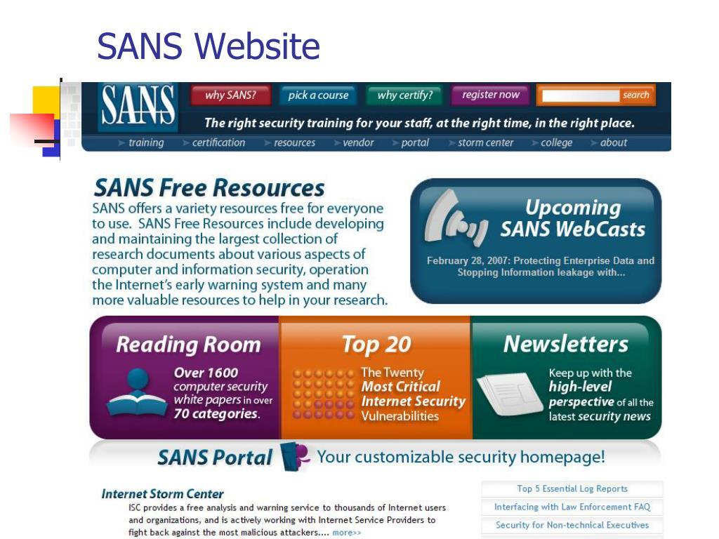 SANS Website
