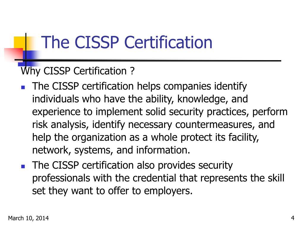 The CISSP Certification
