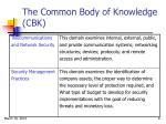 the common body of knowledge cbk6
