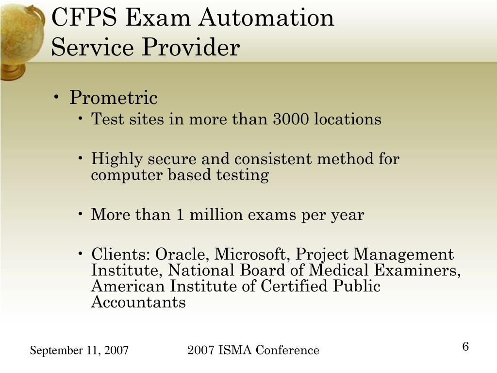 CFPS Exam Automation