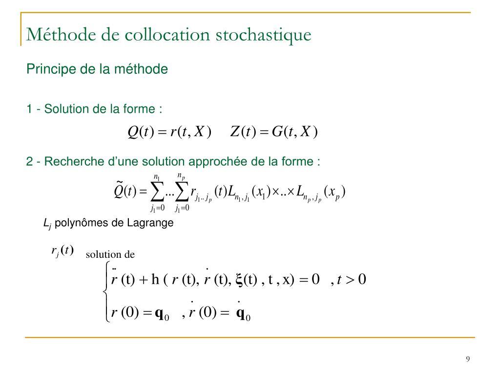 Méthode de collocation stochastique