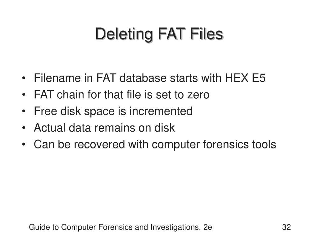 Deleting FAT Files