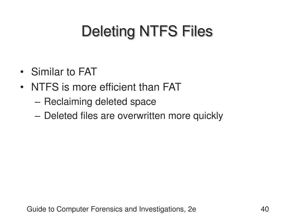 Deleting NTFS Files