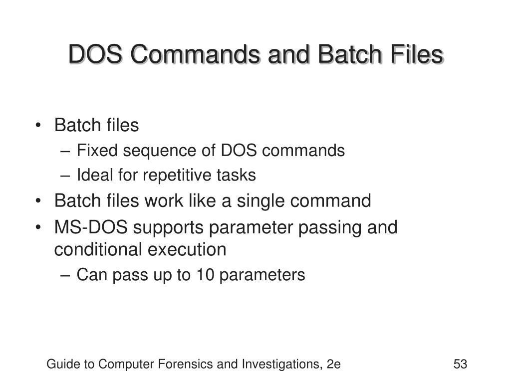 DOS Commands and Batch Files