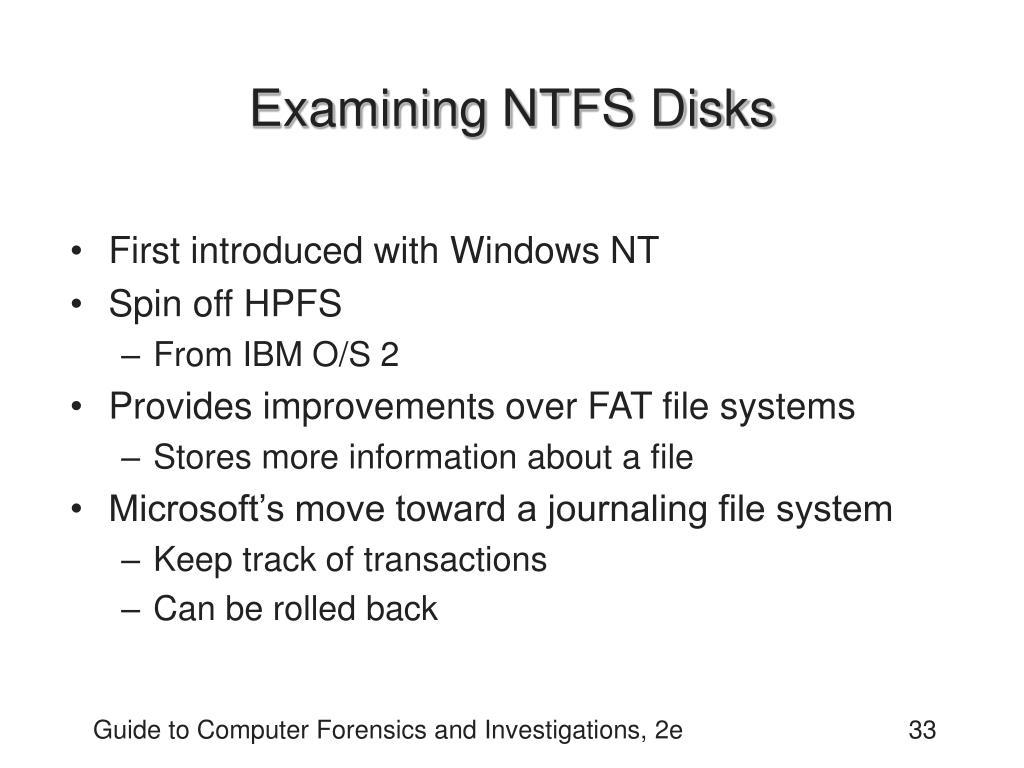 Examining NTFS Disks