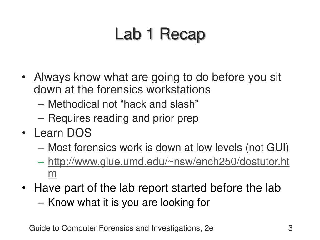 Lab 1 Recap