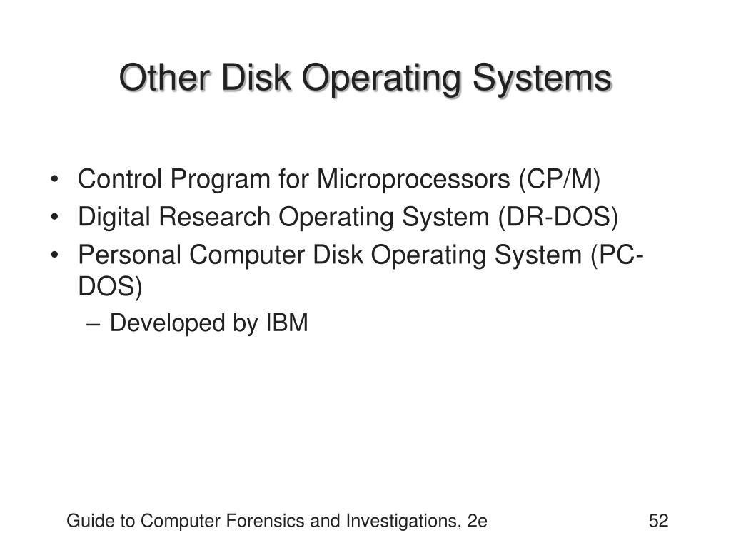 Other Disk Operating Systems