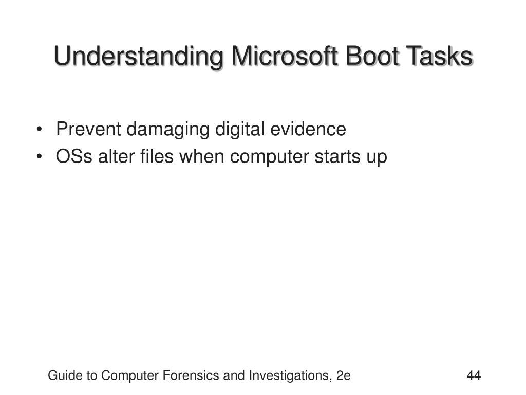 Understanding Microsoft Boot Tasks