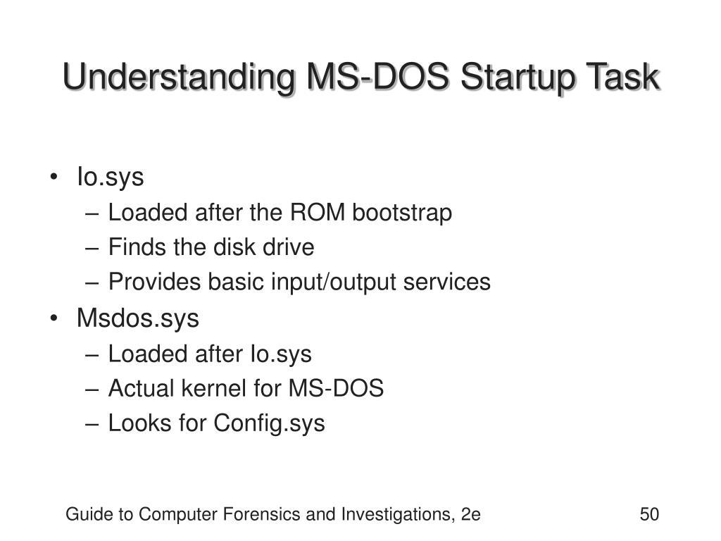 Understanding MS-DOS Startup Task