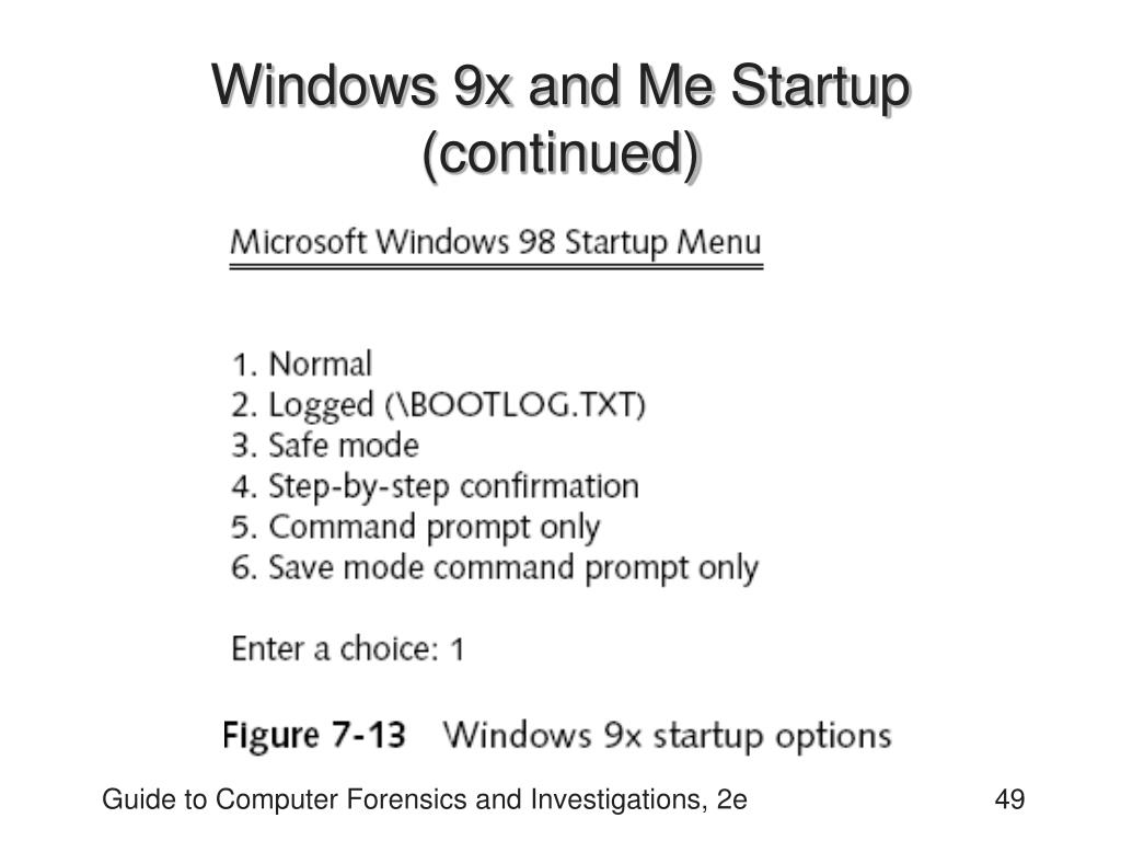 Windows 9x and Me Startup (continued)