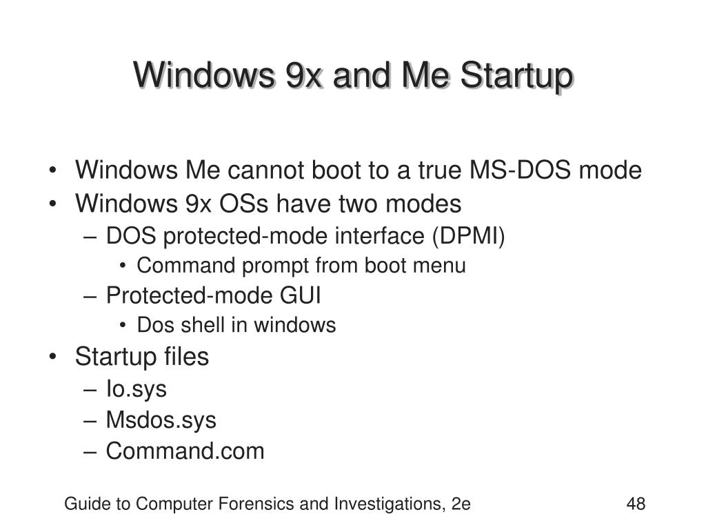 Windows 9x and Me Startup