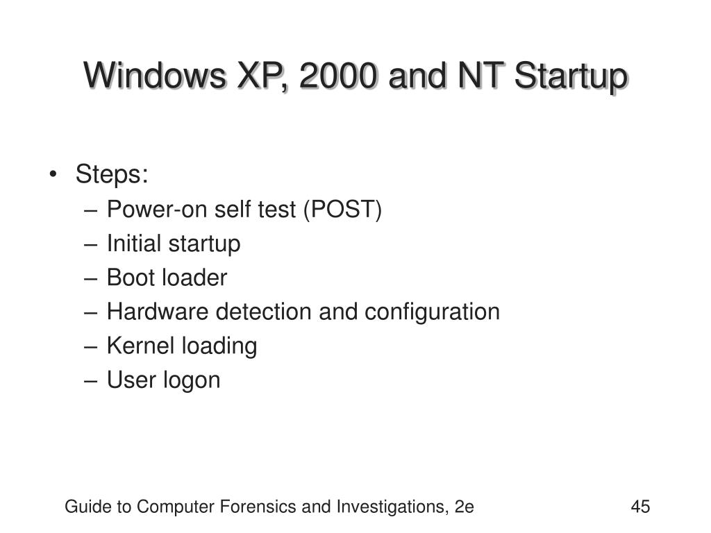 Windows XP, 2000 and NT Startup