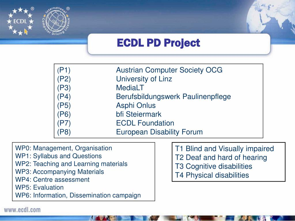 ECDL PD Project