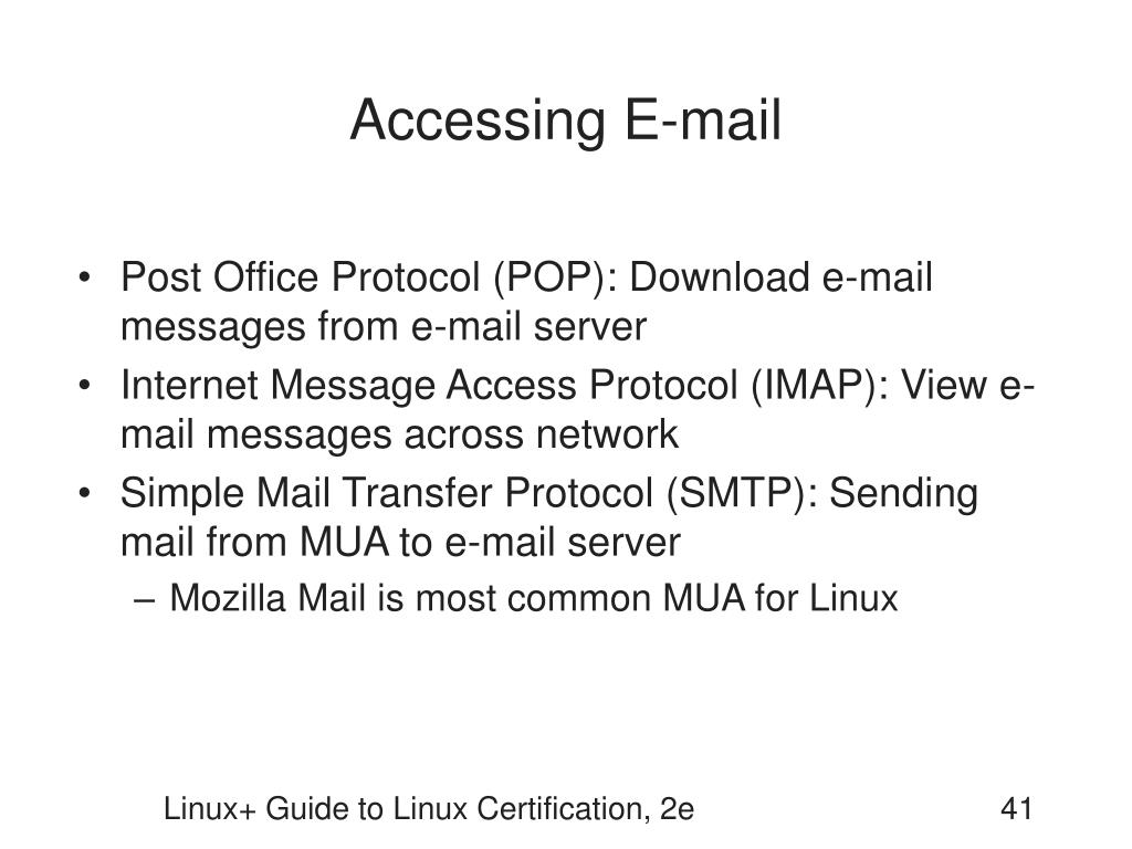 Accessing E-mail