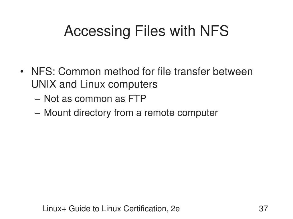 Accessing Files with NFS
