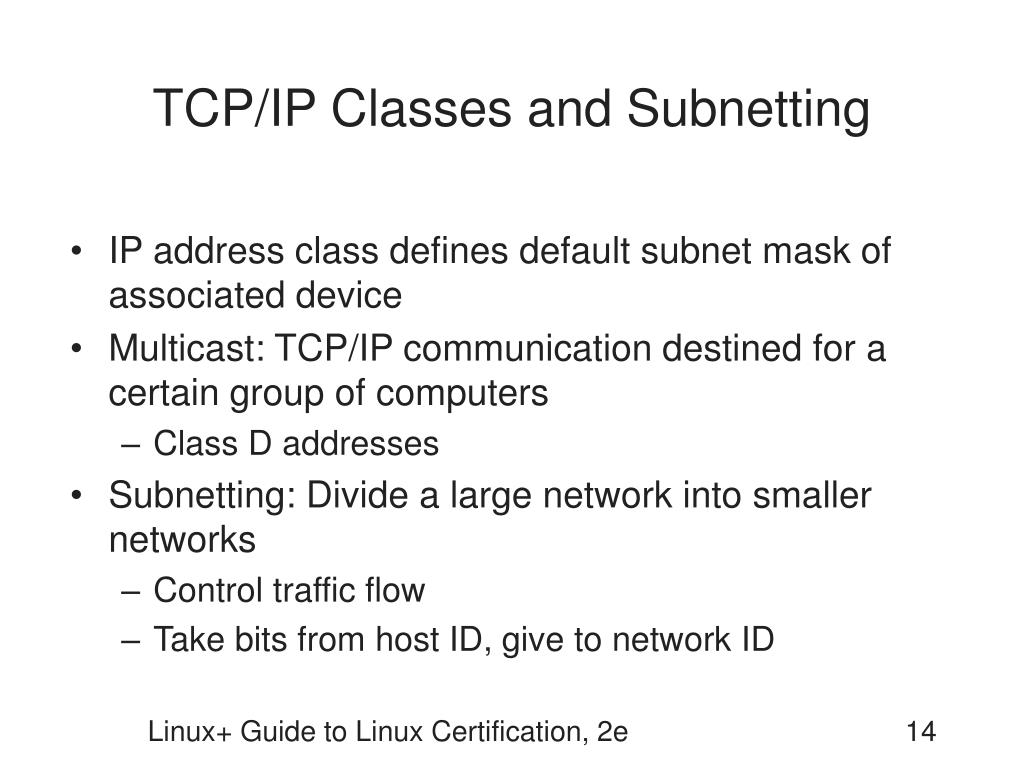 TCP/IP Classes and Subnetting