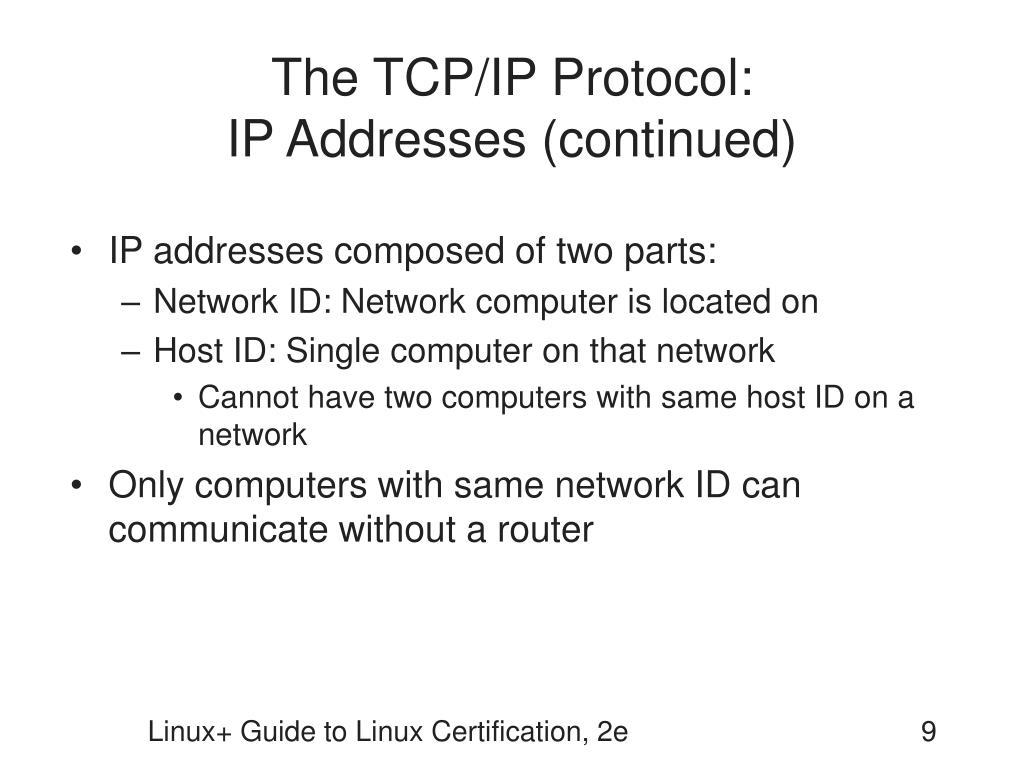 The TCP/IP Protocol: