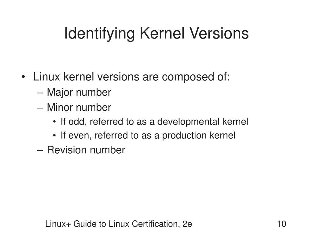 Identifying Kernel Versions