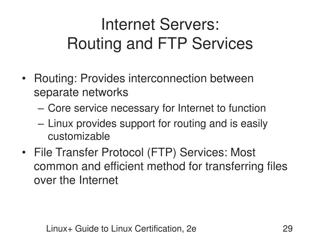 Internet Servers:
