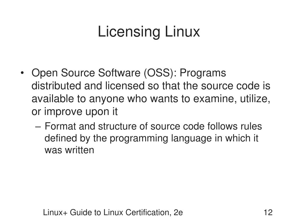Licensing Linux