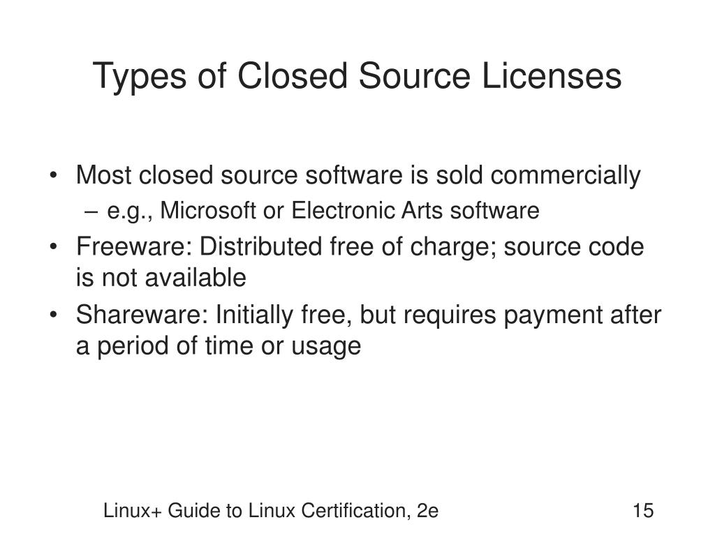 Types of Closed Source Licenses