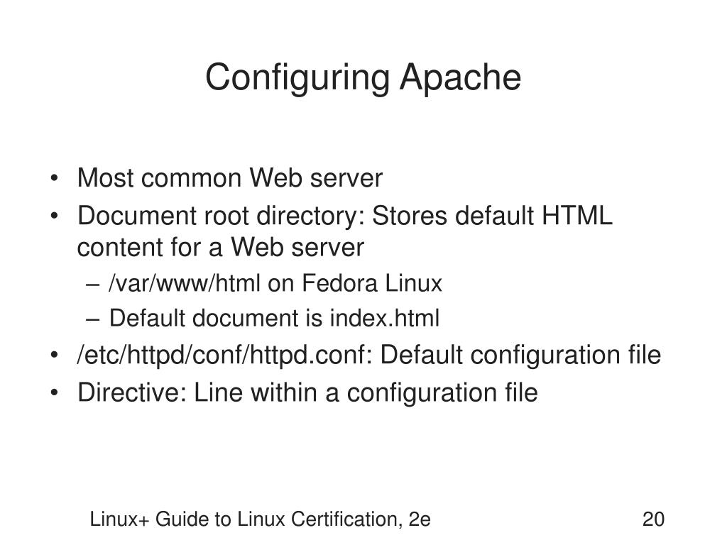 Configuring Apache
