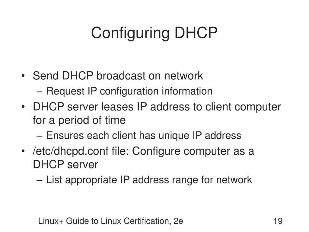 Configuring DHCP