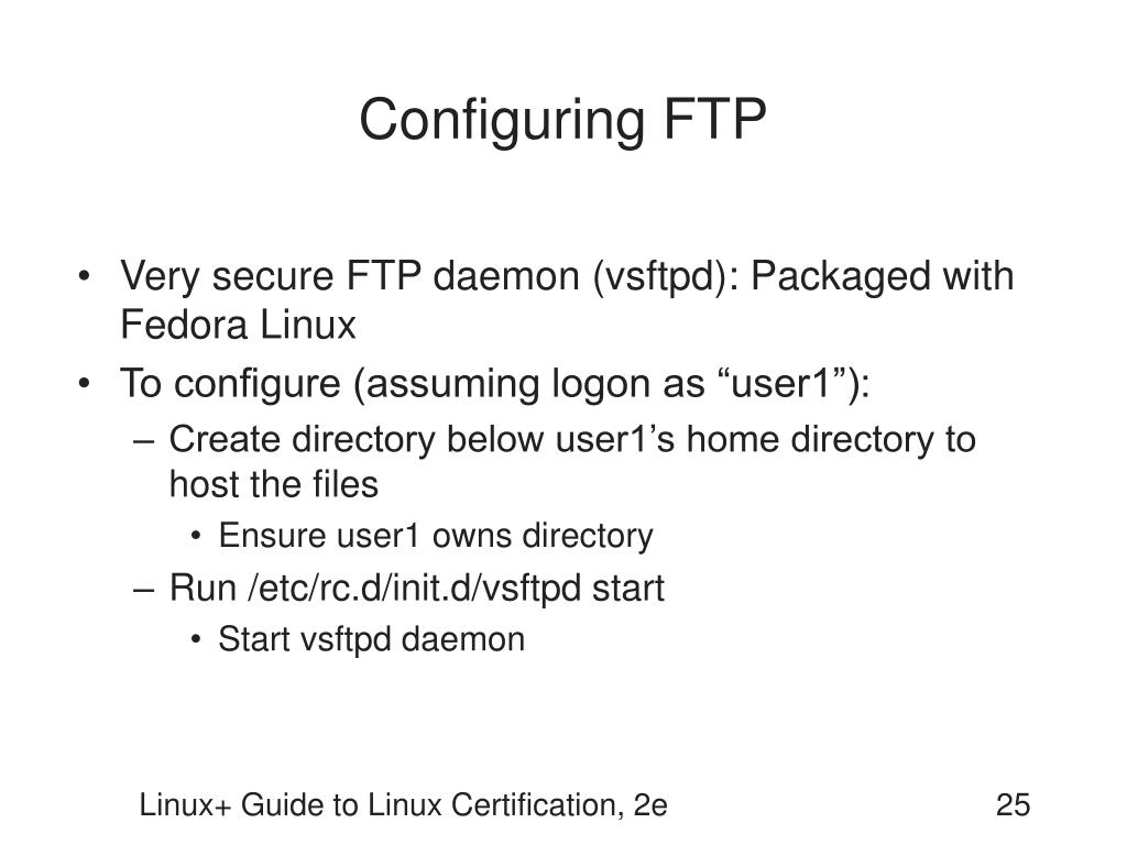 Configuring FTP
