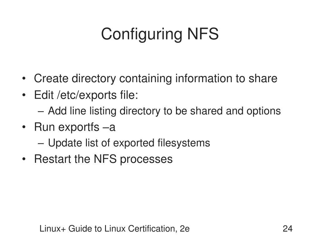 Configuring NFS