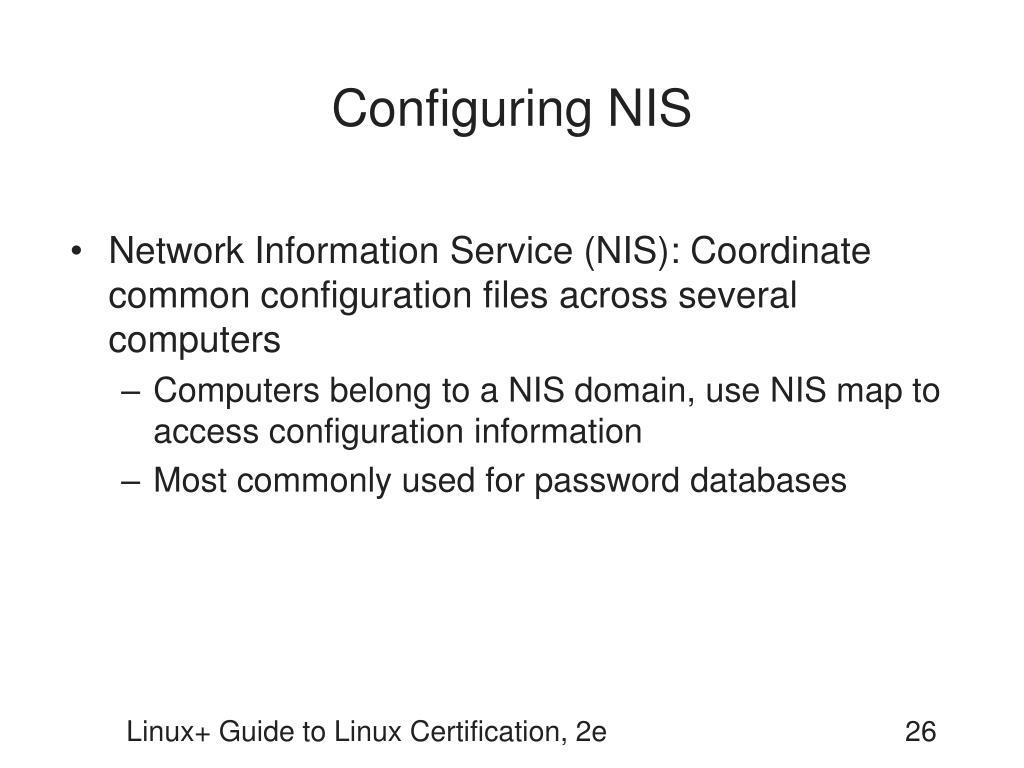 Configuring NIS