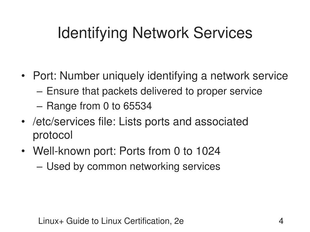 Identifying Network Services