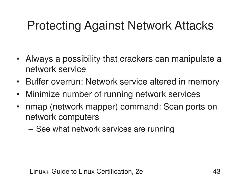 Protecting Against Network Attacks