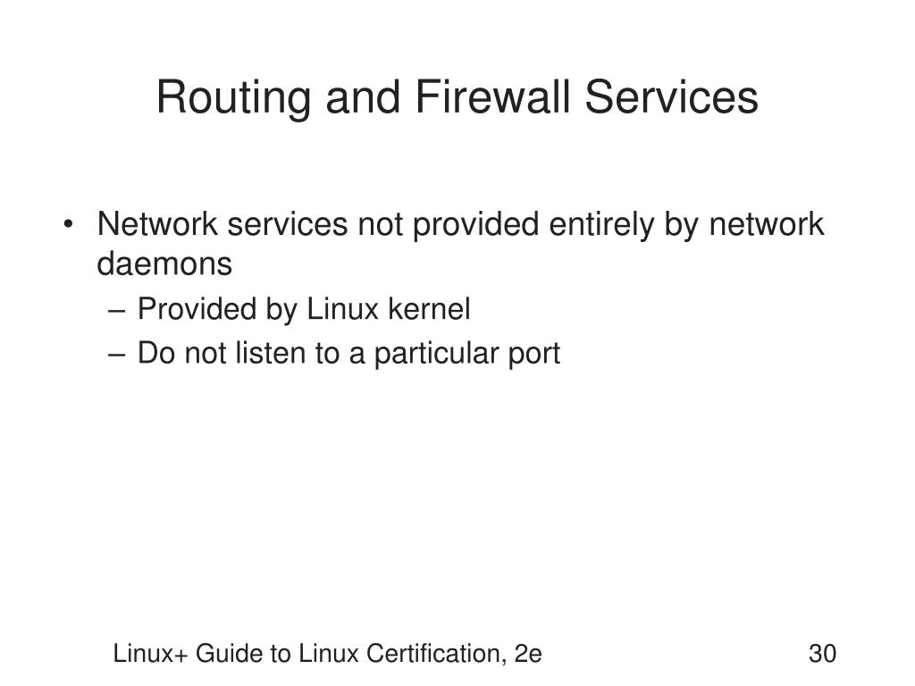 Routing and Firewall Services